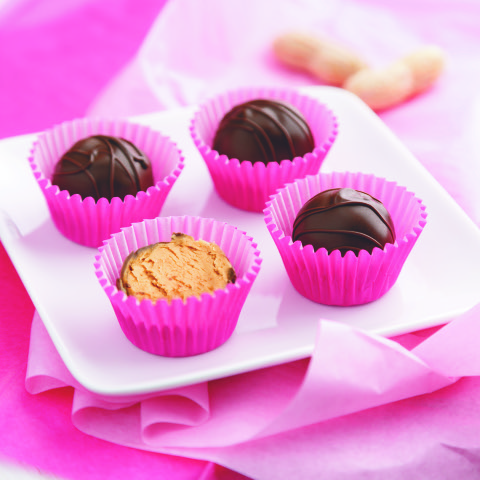 Chocolate Peanut Butter Truffles For Valentine's Day